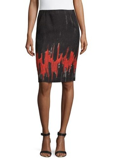 Lafayette 148 New York Two-Tone Pencil Skirt