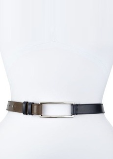 Lafayette 148 New York Two-Tone Pull-Back Leather Belt