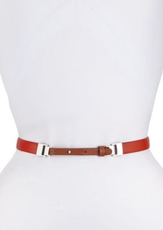 Lafayette 148 New York Two-Tone Skinny Leather Belt