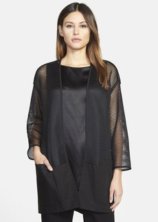 Lafayette 148 New York 'Ursula' Honeycomb Mesh Topper