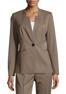 Lafayette 148 New York V-Neck One-Button Jacket