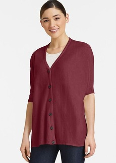 Lafayette 148 New York V Neck Oversized Cardigan