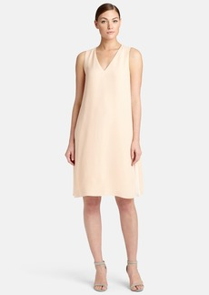 Lafayette 148 New York 'Vaugh' Side Pleat Silk Shift Dress