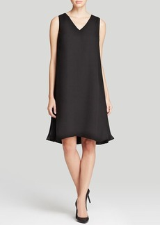 Lafayette 148 New York Vaughn Side Pleat Silk Dress