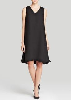 Lafayette 148 New York Vaughn Side Pleat Silk Dress