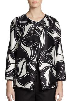 Lafayette 148 New York Venus Printed Wool/Silk Jacket