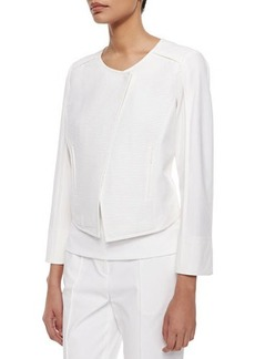 Lafayette 148 New York Vera Ribbed-Center Jacket