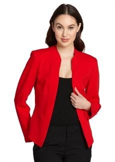 Lafayette 148 New York vermilion red 'Macie' jacket