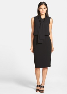 Lafayette 148 New York 'Vivica' Sleeveless Scarf Neck Crepe Dress