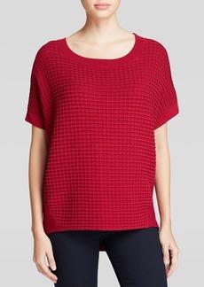 Lafayette 148 New York Waffle Stitch Sweater