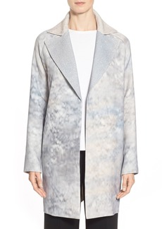 Lafayette 148 New York 'Wallace' Abstract Wool Coat