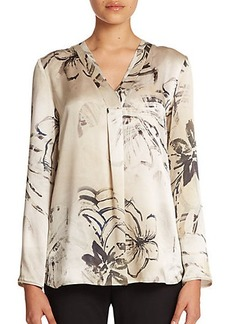 Lafayette 148 New York Watergarden Whispers Silk Libby Blouse