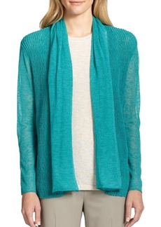 Lafayette 148 New York Wave-Jacquard Open Cardigan