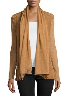 Lafayette 148 New York Wave-Stitch Draped Cardigan