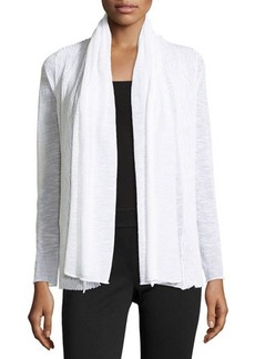 Lafayette 148 New York Wave-Textured Cardigan