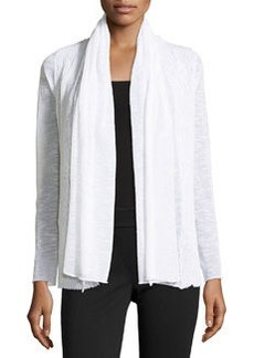 Lafayette 148 New York Wave-Textured Cardigan, White