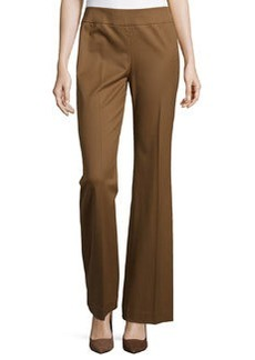 Lafayette 148 New York Waverly Wide-Leg Side-Zip Pants, Coconut