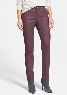 Lafayette 148 New York Waxed Denim Curvy Slim Leg Pants