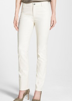 Lafayette 148 New York Waxed Denim Slim Leg Jeans