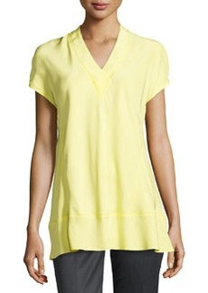 Lafayette 148 New York Whitley V-Neck Blouse, Lemonade