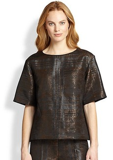 Lafayette 148 New York Whitney Bark-Print Box Top