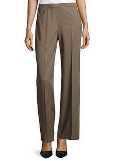 Lafayette 148 New York Wide-Leg Side Zip Pants, Nougat