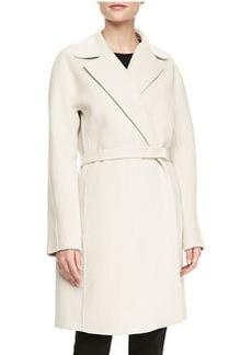 Lafayette 148 New York Wilma Textured Long-Sleeve Coat