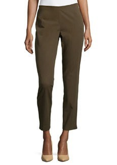 Lafayette 148 New York Winter Stretch-Twill Pants, Loden