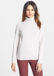 Lafayette 148 New York Wool & Cashmere Turtleneck Sweater