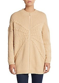 Lafayette 148 New York Wool & Cashmere Zip Sweater