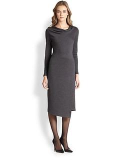 Lafayette 148 New York Wool Asymmetrical Dress