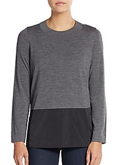 Lafayette 148 New York Wool-Blend Blocked Sweater