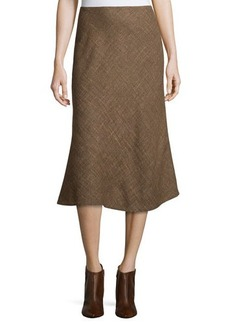 Lafayette 148 New York Wool-Blend Flared Midi Skirt