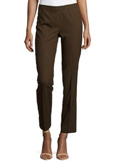 Lafayette 148 New York Wool-Blend Slim-Leg Pants, Espresso