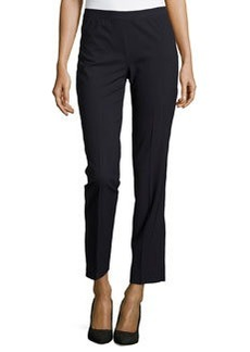 Lafayette 148 New York Wool-Blend Slim-Leg Pants, Navy