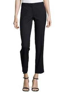 Lafayette 148 New York Wool-Blend Slim-Leg Pants, Navy