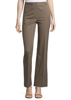 Lafayette 148 New York Wool-Blend Straight-Leg Menswear-Style Pants