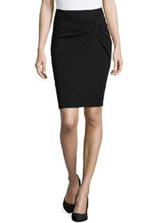 Lafayette 148 New York Wool-Blend Twisted-Knot Skirt