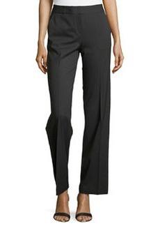 Lafayette 148 New York Wool-Blend Wide-Leg Pants, Ash