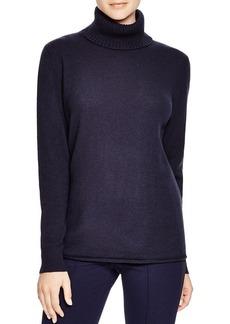Lafayette 148 New York Wool Cashmere Turtleneck Sweater