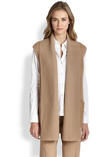 Lafayette 148 New York Wool Contrast-Pocket Vest