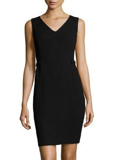 Lafayette 148 New York Wool Crepe Naya Dress, Black