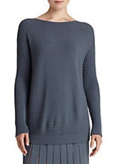 LAFAYETTE 148 NEW YORK Wool Crepe Sweater