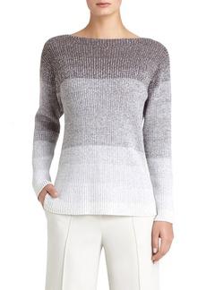 Lafayette 148 New York Wool Rib Knit Dégradé Sweater