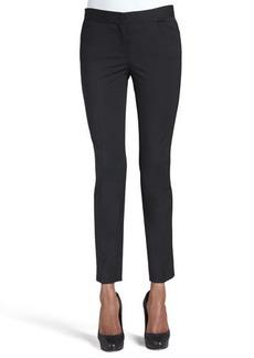 Lafayette 148 New York Wool-Stretch Cropped Skinny Pants
