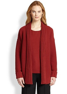 Lafayette 148 New York Wool/Cashmere Link-Stitch Cardigan
