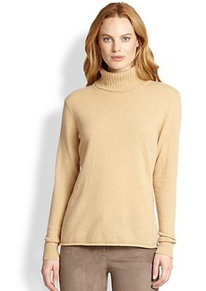 Lafayette 148 New York Wool/Cashmere Turtleneck Sweater