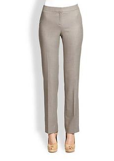 Lafayette 148 New York Wool/Silk Barrow Suit Pants