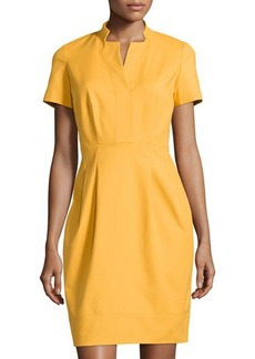 Lafayette 148 New York Yaelle Short-Sleeve Pleated Dress