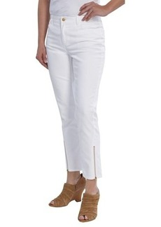 Lafayette 148 New York Yarn-Dyed Denim Slim Pants - Ankle Zips (For Women)